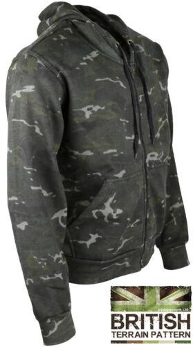 Mens Combat  Military BTP Camo Army Hooded Zip Top Hoodie Winter Fleece Jacket
