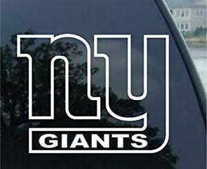 Ny New York Giants Window Sticker Vinyl Decal Any Size Any