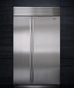 Image Is Loading Sub Zero Stainless Steel 48 Inch Fridge Freezer