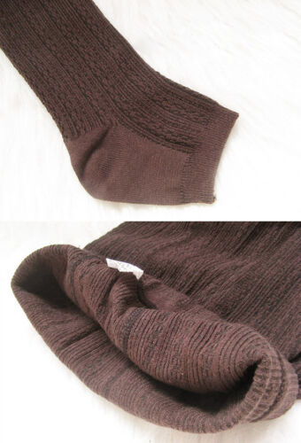 Women Winter Cable Knit Sweater Footed Tight Warm Stretch Stocking Pantyhose Bu