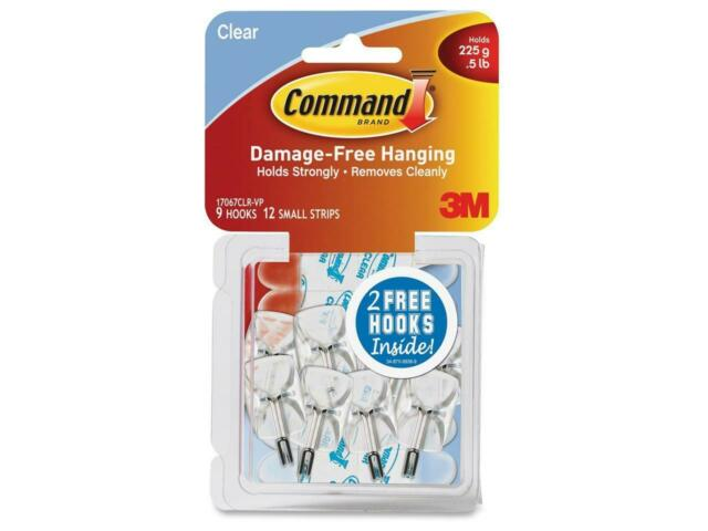 3M Command Clear Hooks and Strips