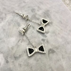 7e3365411bb507 Image is loading swarovski-crystal-earrings-hanging-crystal-bow