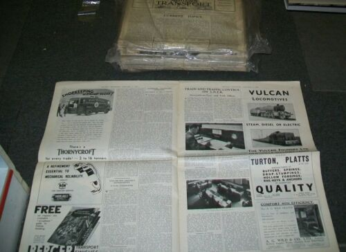 MODERN TRANSPORT NEWSPAPER. 1938 981 to 1033 MISSING 3 copies. 49 copies
