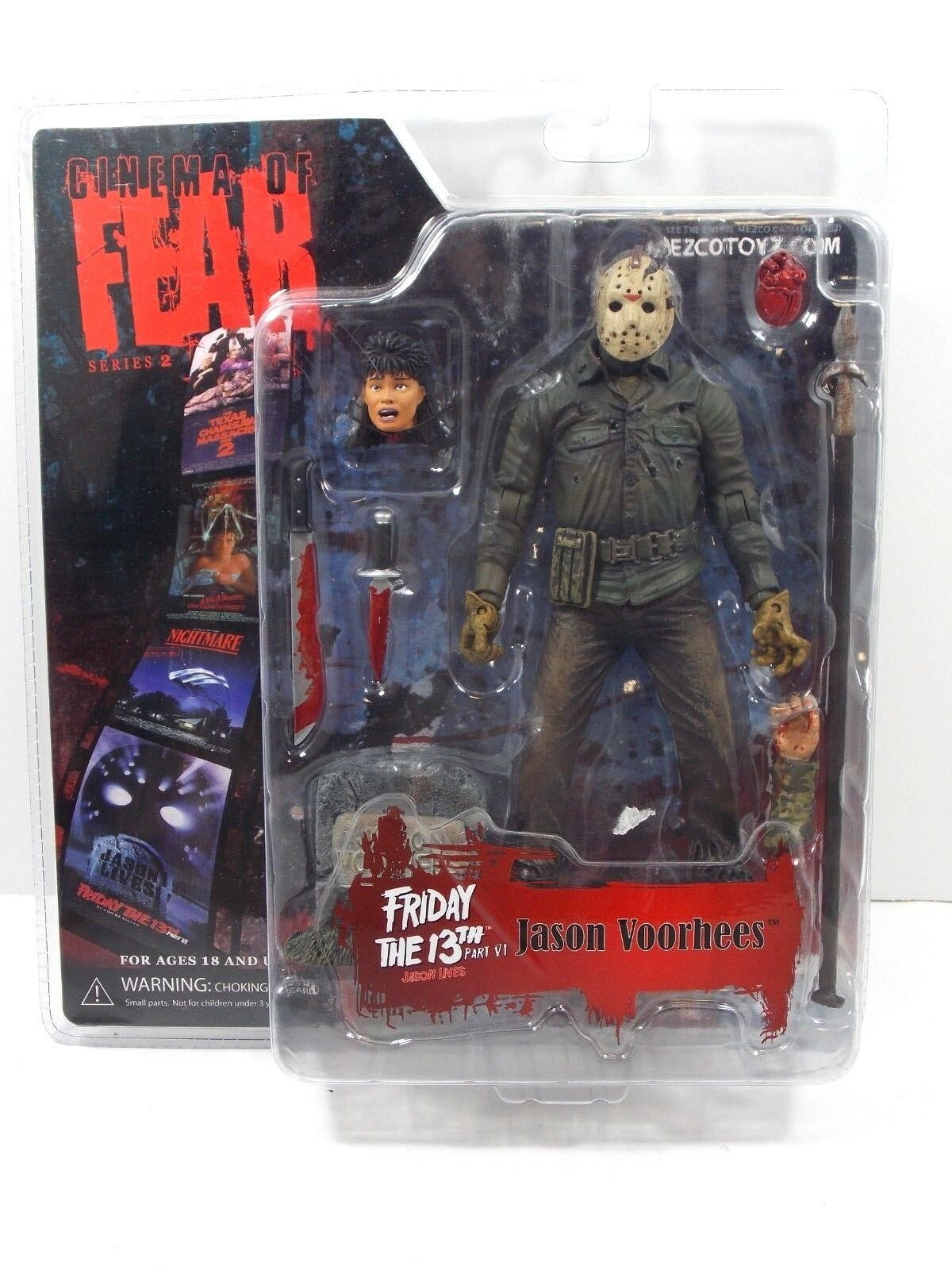 CINEMA OF FEAR SERIES 2 JASON VORHEES FRIDAY THE 13th PART VI LIVES MOC MEZCO