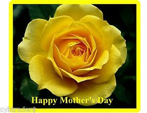 Happy Mothers Day Gift Card Insert Yellow Rose Refrigerator Magnet #2
