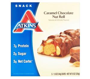 Atkins Bars Caramel Chocolate Nut Roll
