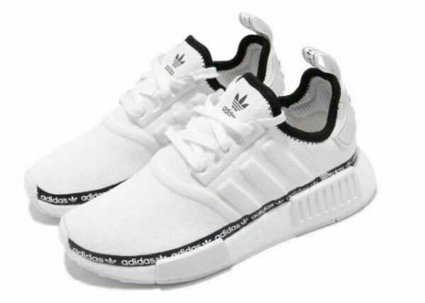 Size 5.5 - adidas NMD R1 White Tape Logo for sale online | eBay