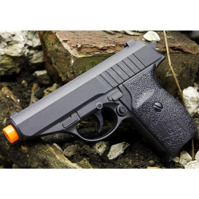 NEW METAL P232 SPRING AIRSOFT PISTOL FULL SIZE BLACK HAND GUN AIR w/ 6mm BB  BBs