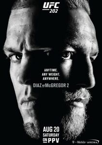 UFC 202 Conor McGregor vs. Nate Diaz II Imprimé Photo Affiche Le 20th août 2016 MMA 							 							</span>