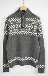 TOMMY-HILFIGER-Men-039-s-LARGE-Lambswool-Blend-Knitted-Pullover-Sweater-28991-JS
