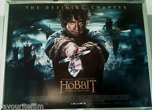Cinema Poster Hobbit Battle Of The Five Armies 2014 Main Quad Martin Freeman Ebay