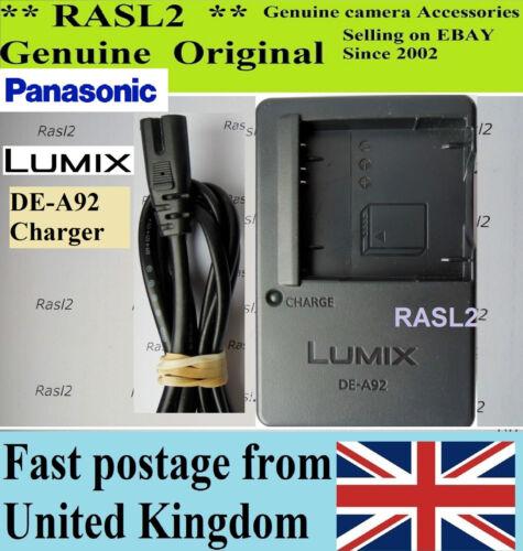 Genuine Panasonic Lumix CARICABATTERIE DE-A92 DMC-FH2 DMC-FS37 DMC-FS22 DMC-FP7 S3 S5
