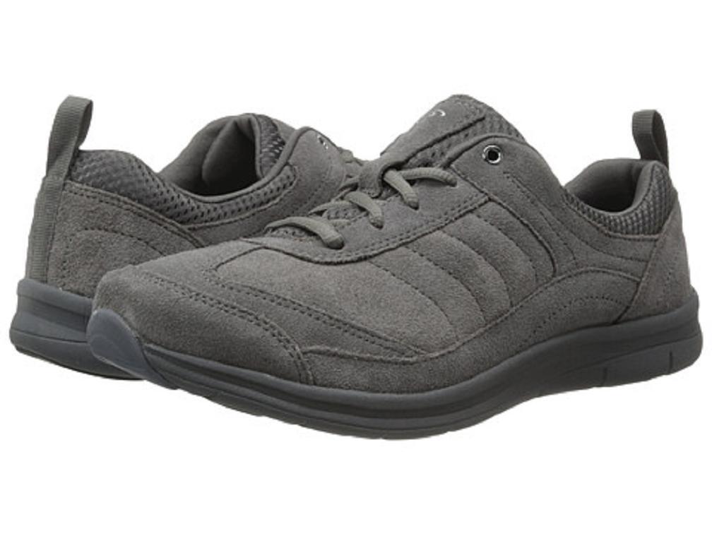 Piano Spirito Southcoast  scarpe atletica GEL pelle grigia scamosciata sz 7.5 NARROW Nuovo  Nuova lista