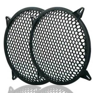4 Pairs 12 Inch Subwoofer Metal Waffle Grills Universal Speaker Cover Guard
