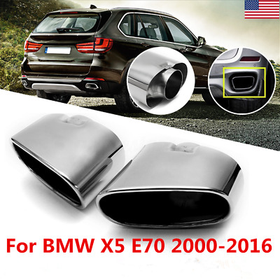 Pair Stainless Steel Dual Exhaust Muffler Tail Pipe Tip For Bmw X5 E70 08 13 Usa Ebay