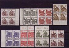BRD MiNr. 454-461 Deutsche Bauwerke ** Viererblöcke teils Rand (kn17_490)