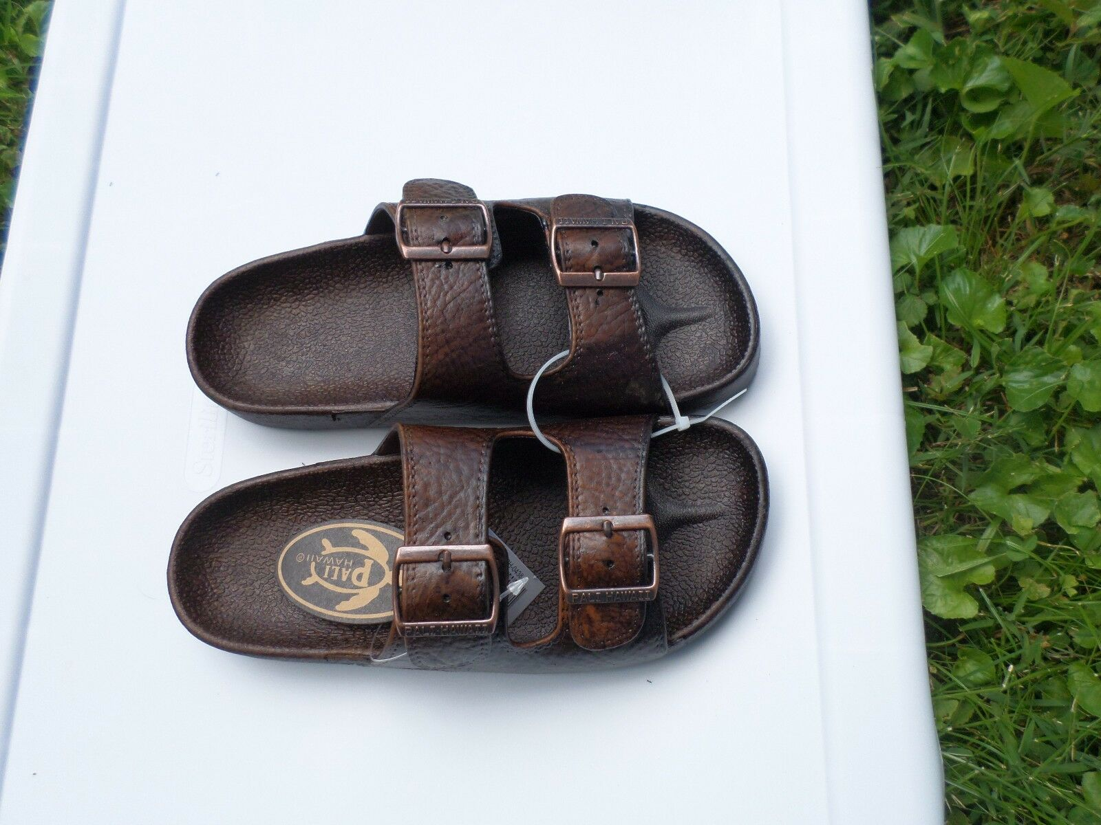 Pali Hawaii Sandals PH438 -MEN'S SIZE  BUCKLE 1 PAIR SIZE -MEN'S 7 DARK BROWN 429d39