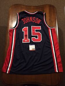 low priced 2693c bf4f2 Magic Johnson Auto Signed #15 USA Olympic Dream Team Jersey ...