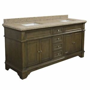 72-034-Farmhouse-Double-Bathroom-Vanity-Granite-Top-Sink-Wood-Cabinet-Soft-Close
