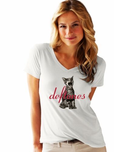 lady LOGO NEW T-SHIRT FRUIT OF THE LOOM woman Deftones LOGO damen