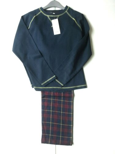 BOYS CHAINSTORE NAVY 100/% COTTON CHECKED PYJAMAS AGE 8-13 RRP £19.99