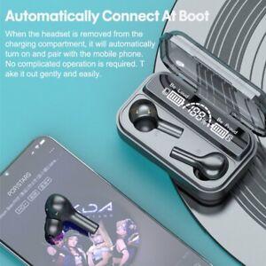 Bluetooth Earphones 5.0 Wireless Earbuds IPX7 Waterproof LED Noise Cancelling