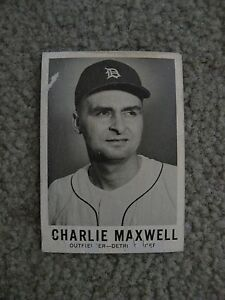 Details About 1960 Leaf Sports Novelties Chicago Il Charles Maxwell Detroit Tigers Card 48