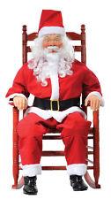 CHRISTMAS SANTA CLAUS ROCKING DECORATION PROP LIFESIZE TALKS AND SOUND