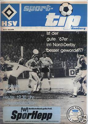 Aggressiv Bl 78/79 Hamburger Sv - Eintracht Braunschweig