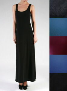 Details about NEW Plus Size Long Full Length Basic Solid Maxi Tank Dress-  XL/1X-2X-3X-4X-5X-6X