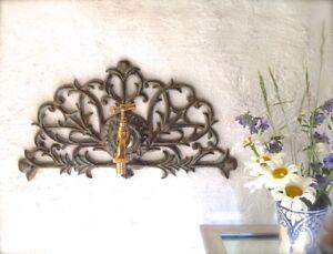 Décoration de jardin wand-ornament avec robinet laiton - Fontaine ...