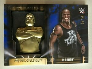 R-Truth 2019 Topps WWE Road to Wrestlemania Andre The Giant Trophy ... a8e266eec9d