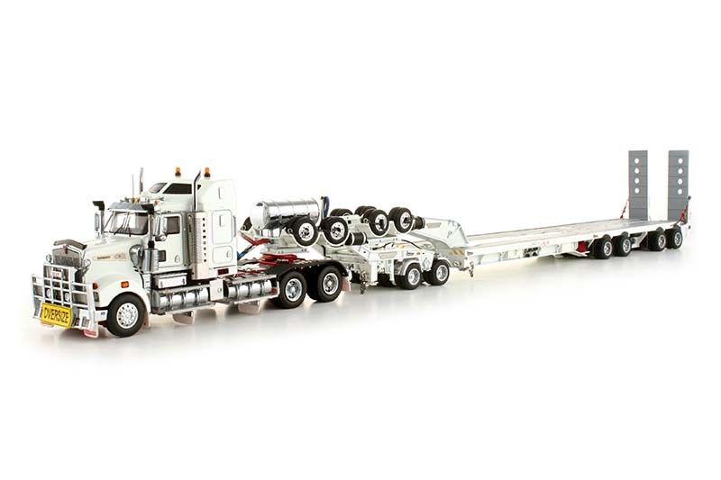 KENWORTH T908 camion avec Drake Trailer -  BLANC  - 1 50 - TWH  113-T09000B