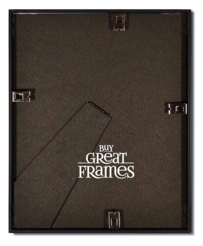 Frosted Black Metal Picture Frames and Clear Glass