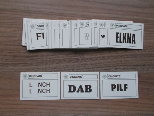 Choose Your Missing Parts Parts and Pieces to Dingbats by Waddingtons 1987