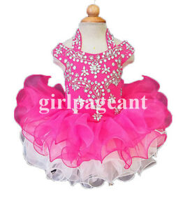 Infant-toddler-baby-hotpink-stone-Crystals-Beaded-Pageant-Dress-069