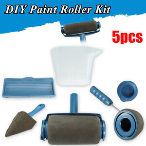 5 pcs wall painting paint edger roller kit house runner. Black Bedroom Furniture Sets. Home Design Ideas