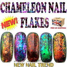 Chameleon Nail Flakes Mirror Chrome Powder Colour Changing Rose Gold Sequins UK