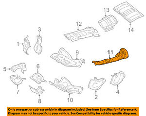subaru oem 11 16 forester 2 5l h4 heat shields exhaust heat shield 2003 Subaru Forester Parts Diagram image is loading subaru oem 11 16 forester 2 5l h4