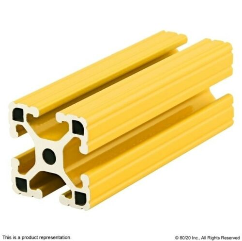 """80//20 Aluminum Extrusion Powder Coated 15 Series 1515-Lite-Yellow x 48/"""" Long N"""
