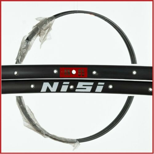 "NOS NISI AN85 TUBULAR RIMS SET 28/"" 36H HOLES 80S VINTAGE ROAD RACING BICYCLE OLD"