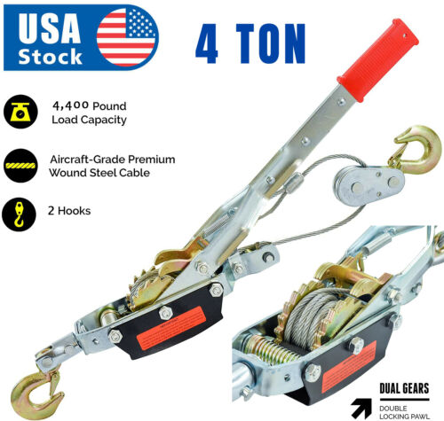 Business & Industrial 4 Tons 8800lbs Hook Come A Long Winch Hoist ...