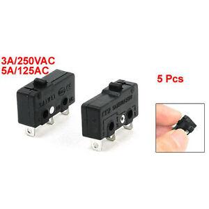 5x-3-Terminal-SPDT-1NO-1NC-Micro-interruttore-momentaneo-3A-250VAC-5A-125AC-HKIT