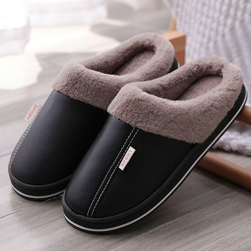 Women/'s Winter Slippers Indoor Outdoor Mules Plush Lined Warm House Shoes Size