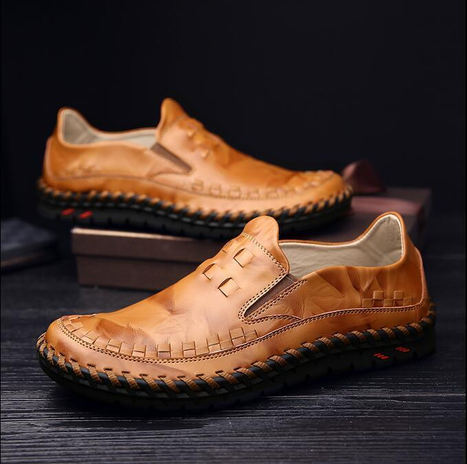 Casual Men's Gommino Slip On Soft Breathable Leisure Driving Loafer shoes UK Sz