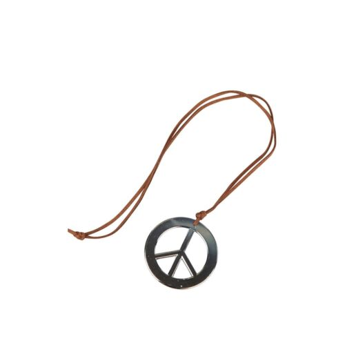 Hippie Peace Necklace Groovy 1960/'s Adults Fancy Dress Costume Accessory