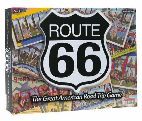 ROUTE  66 - THE GREAT AMEICAN strada TRIP gioco - 2  to 4 players or squadras - age 10+  l'intera rete più bassa