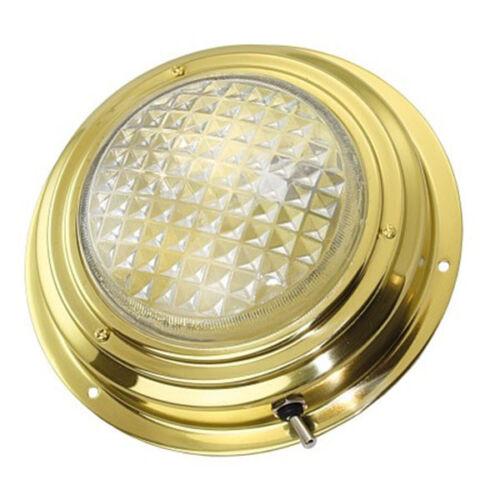 Deckenlampe 140 mm Messing poliert für 12V EK30195