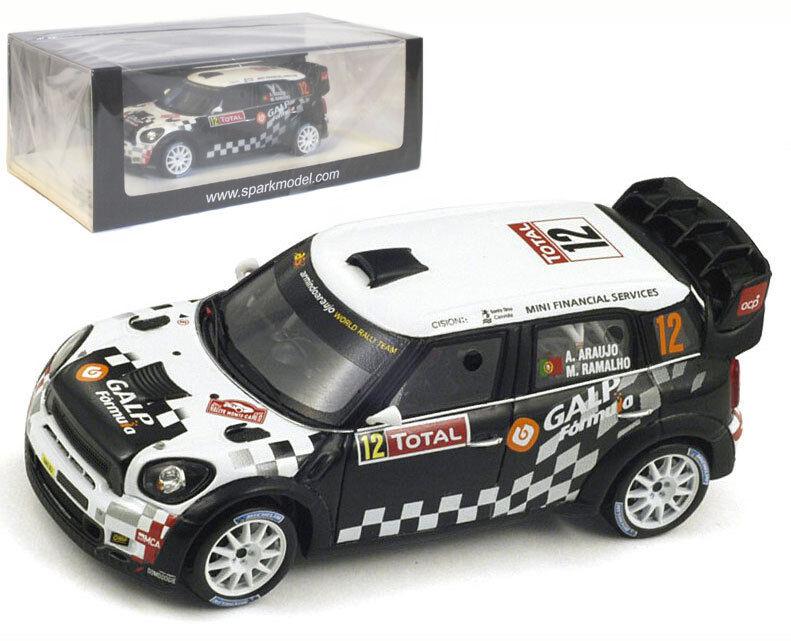 Spark S3351 mini john cooper works  12 rallye monte carlo 2012-araujo 1 43