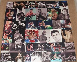 us boxing collage 30 x 30 classic canvas on a wooden stretcher